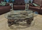 oval driftwood coffee tables for sale
