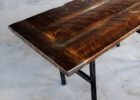 pallet wood dining table with metal legs