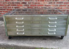 pottery flat file coffee table glass