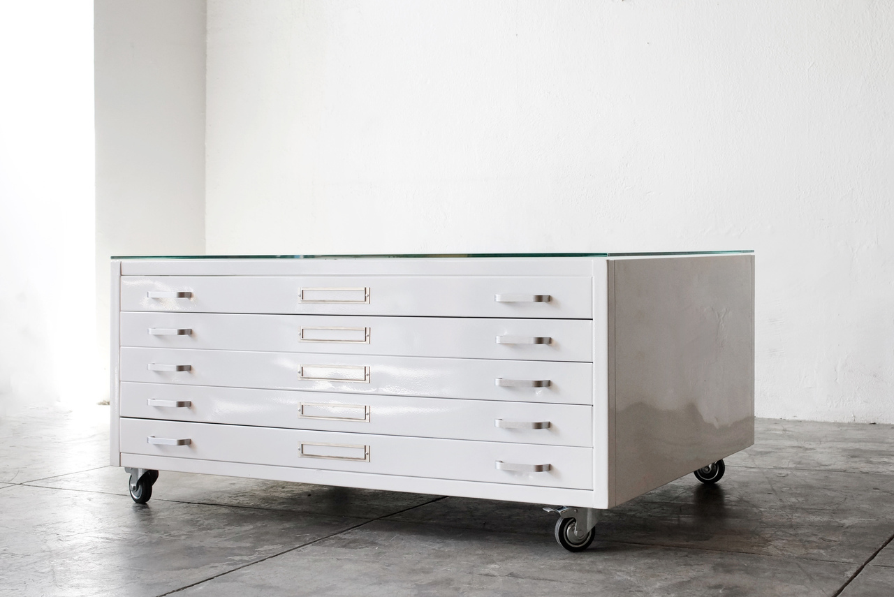 pottery flat file coffee table