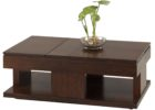 progessive daytona double lift top coffee table in regal walnut
