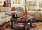 pull up coffee table faux marble