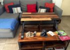 pull up coffee table reclaimed wood