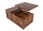 pull up coffee table walnut