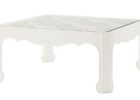 quatrefoil coffee table glass