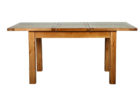 reclaimed wood butterfly leaf dining table set