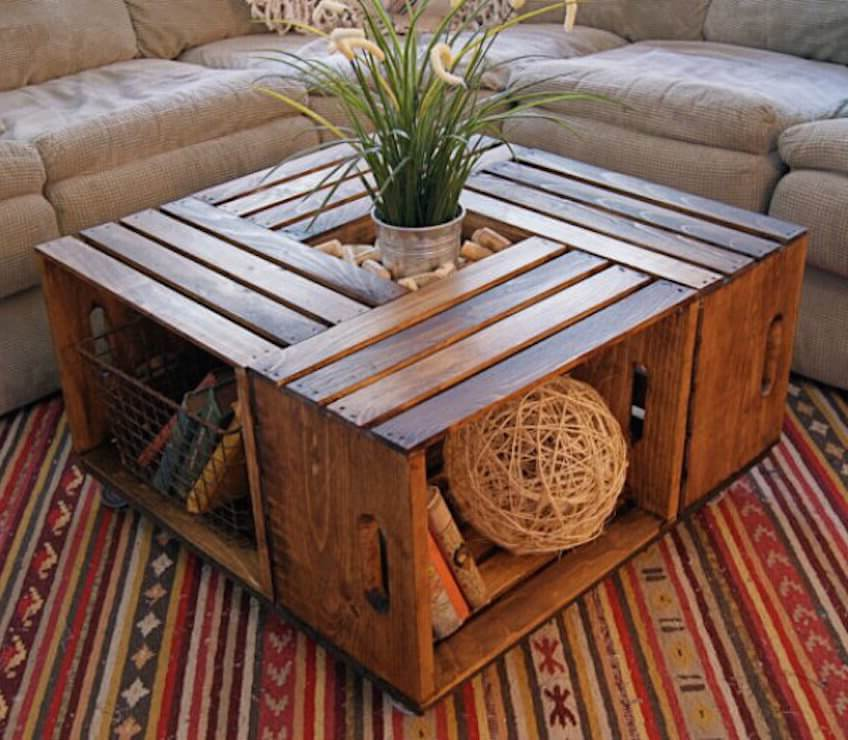reclaimed wood coffee tables under $50