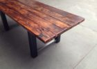 reclaimed wood dining table with metal legs