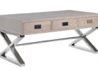 reclaimed wood for chrome and wood coffee table with storage