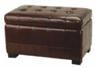 rectangular leather tufted cushion coffee table with storage