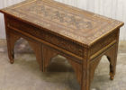 rectangular wooden moroccan style coffee table