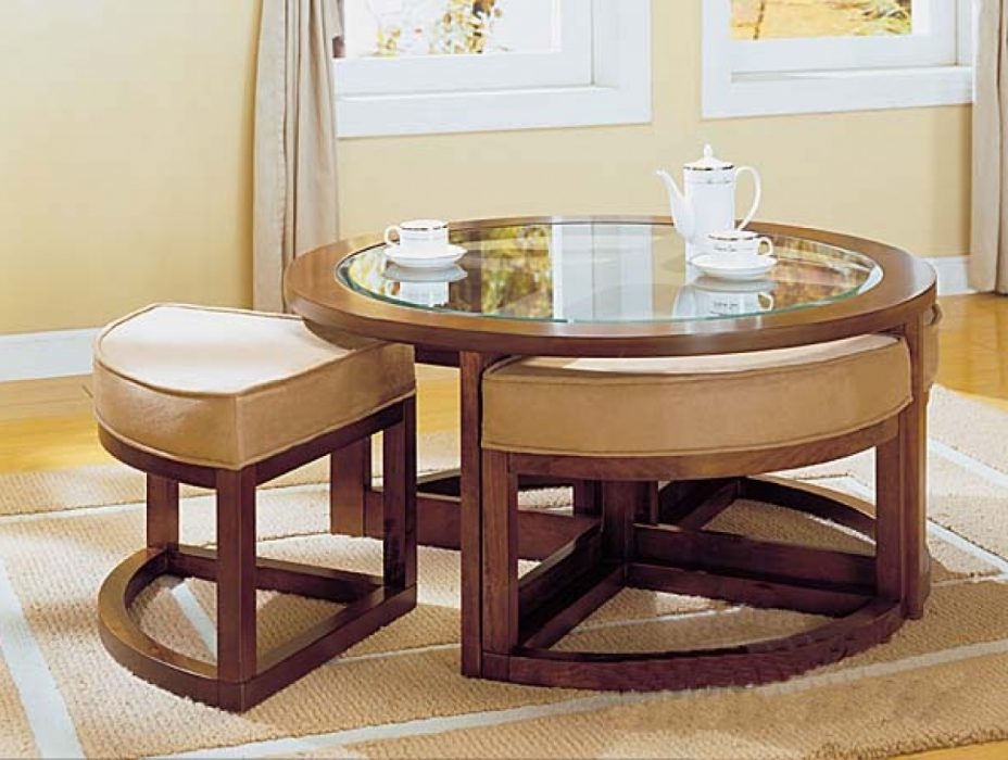 Coffee Table With Chairs Underneath