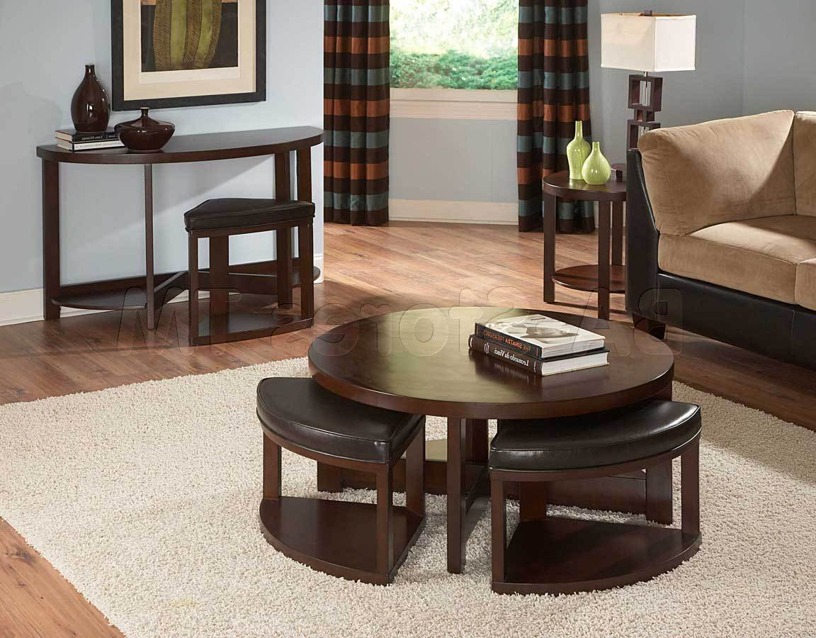 Underneath Round Coffee Table With Seats Ottman Pull Out