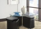 round coffee table with seats ottoman pull out