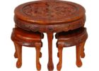 round coffee table with seats pull out furniture