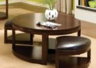 round coffee table with seats small ottoman
