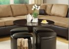 round coffee table with seats storage