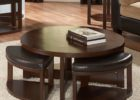 round coffee table with seats storage pull out
