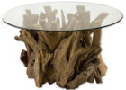 round glass driftwood coffee tables for sale