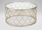 round glass moroccan style coffee table
