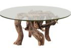 round tempered glass driftwood coffee tables for sale