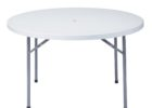 round white outdoor coffee table with umbrella hole furniture