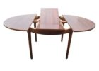 round wood butterfly leaf dining table set