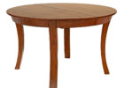 round wooden butterfly leaf dining table set