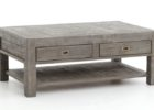 rustic grey wash coffee table with storage