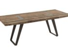 rustic reclaimed wood dining table with metal legs