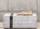 rustic square white grey wash coffee table