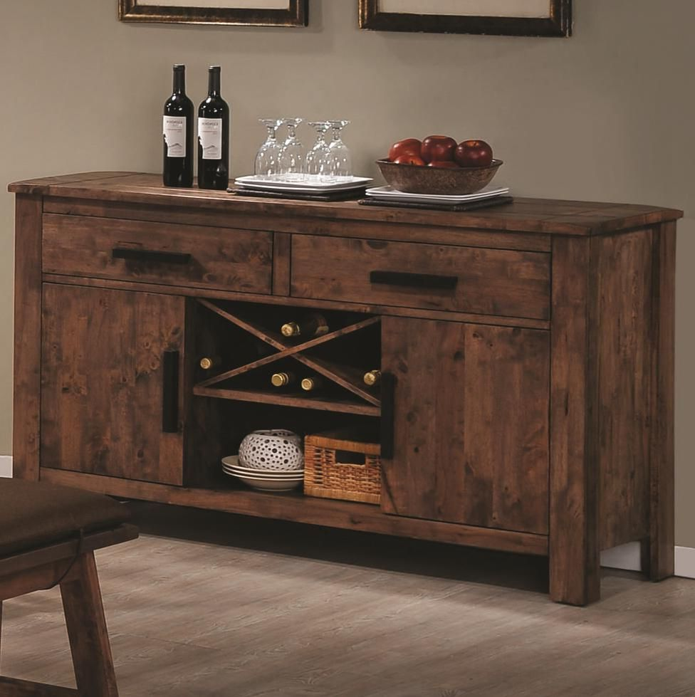 rustic wood buffet tables for dining room