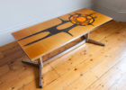 rustic wood chrome and wood coffee table furniture