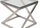 small brushed nickel coffee table