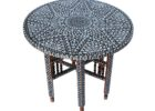 small round moroccan style coffee table