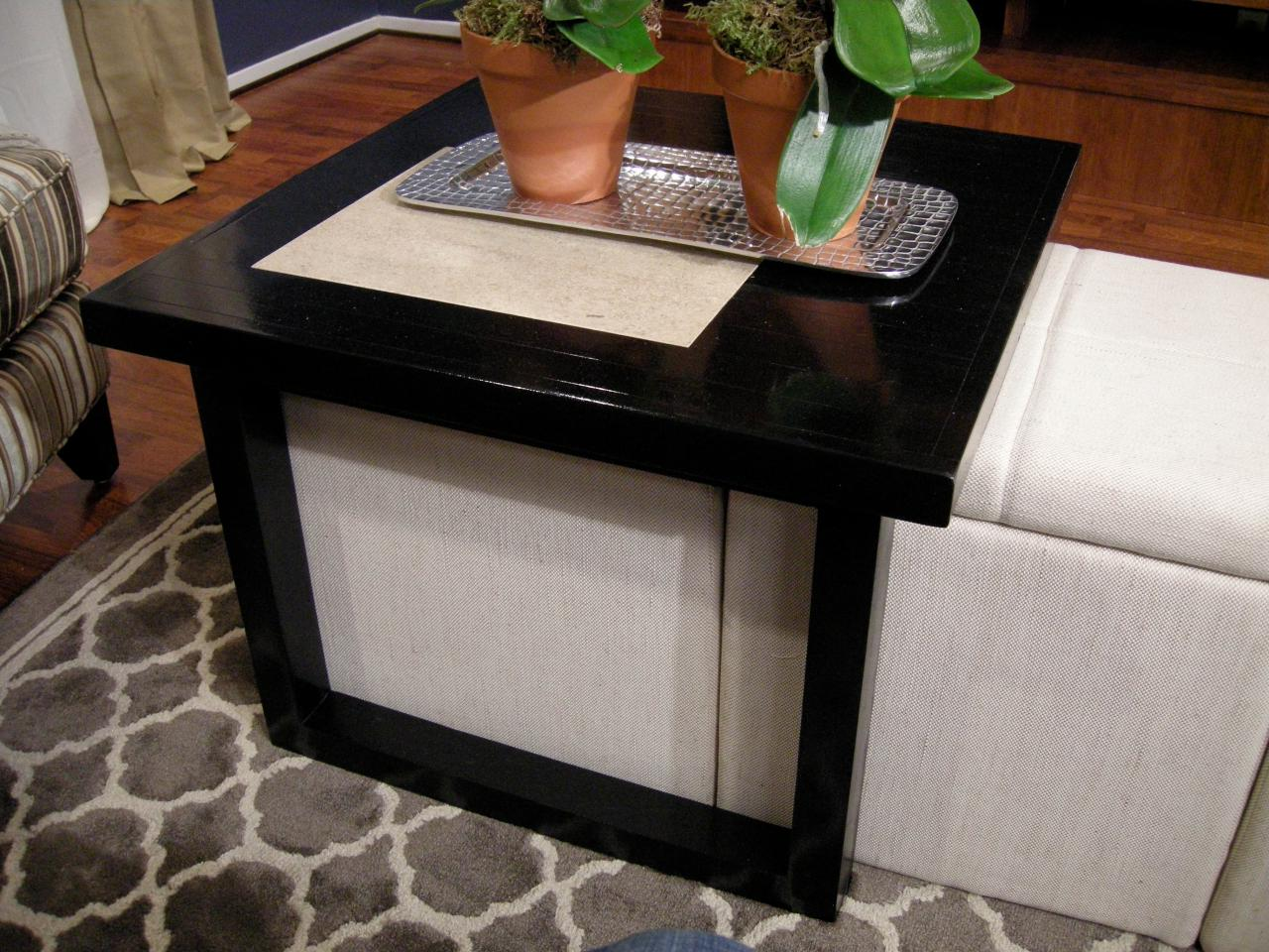 small square coffee table with pull out ottomans furniture