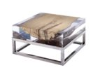 small square geode coffee table