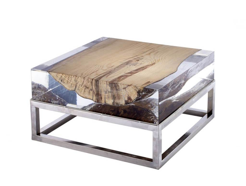 Small Square Geode Coffee Table Raysa House