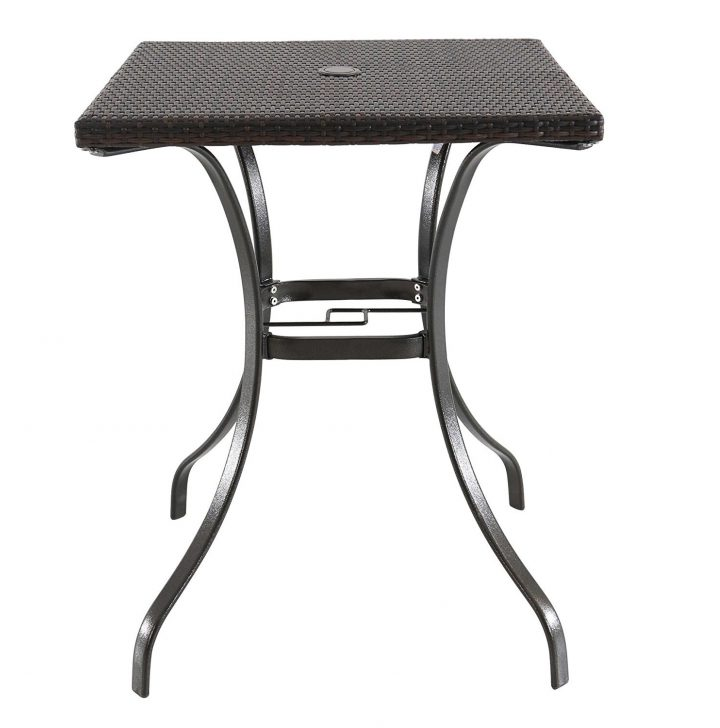 small square outdoor coffee table with umbrella hole