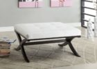 small white leather ottoman coffee table