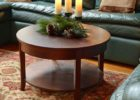 small wood 30 inch round coffee table
