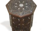small wooden moroccan style coffee table