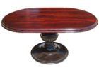 solid wood oval dining table pedestal base