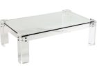 square acrylic coffee table clear