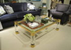 square acrylic coffee table with copper frame ideas