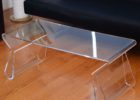 square acrylic coffee table with strorage