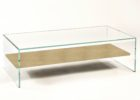 square acrylic coffee table with wooden storage