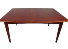 square butterfly leaf dining table set
