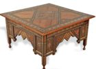square moroccan style coffee table