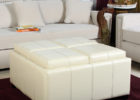 square white leather ottoman coffee table with storage